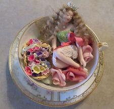 """TEACUP FAIRY - FAIRY DREAMS OOAK - Porcelain fairy figurine - """"Ami"""""""