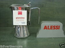 GIANNINI -  CAFFETTIERA GIANNINA-TAZZE 1-acciaio 18/10 -GAS -NO INDUZIONE-
