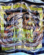 Glanz Motiv Tuch Stola mit Satin Tiger Adler Elefant edel Schal 102 x 102 NEU #5