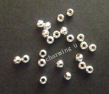 100pz  perline spacer separatori  5mm colore argento chiaro