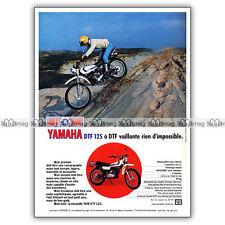 PUB YAMAHA DTF 125 - Original Advert / Publicité Moto de 1976