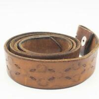 Vintage Brown Genuine Hand Tooled Leather Belt