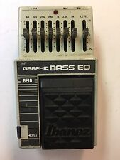 Ibanez BE10 Bass Graphic Equalizer EQ Rare Vintage Guitar Effect Pedal MIJ Japan