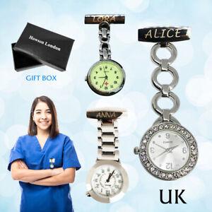 Personalised Nurse Watch Engraved Diamante Fob Carer Custom Thank Teachers Gift