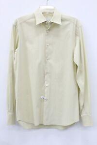 Prada Men's Yellow Cotton Blend Stretch Dress Shirt Size 15