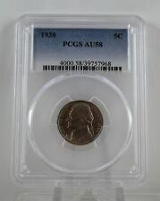 1938 US Jefferson Nickel PCGS AU 58