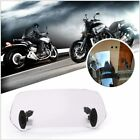 Adjustable Windshield Clip On Extension Spoiler Wind Deflector For Motorcycle