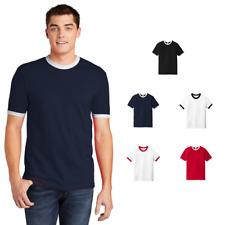 American Apparel 2410W Fine Jersey Ringer T-Shirt Ring Spun Cotton Retro Classic