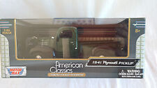 Motor Max/American Classic Green 1941 Ford Plymouth Pickup 1:24 scale collector