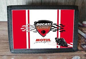 Ducati Motorcycle Racing Nylon Wallet Ideal Xmas Gift/ Stocking Filler