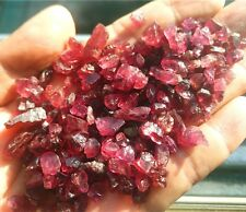 86g 400pc NATURAL GARNET RED ROUGH GEMSTONES LOOSE WHOLESALE LOT RAW MINERAL