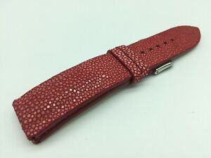 Polished  stingray leather watch strap #CD0920