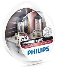 2 x Bombillas Philips VisionPlus H4 60% Vision Plus Faros Halogeno Coche Lampara