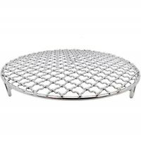 Round Cooling Baking Rack ,304 Stainless Steel Wire Oven Grill Sheet 12 sizes