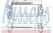 NISSENS Intercooler radiador admisión de aire 96490