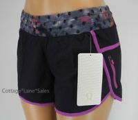 NEW LULULEMON Tracker Short III 4 Naval blue Windy Blooms Ultra Violet Shorts