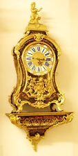 FANTASTISCHE GROSE  BOULLE UHR mit KONSOLE, 1/4 St. SCHLAG um 1760