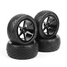 4Pcs RC 1:10 On-Road Front Rear Tyres Wheel Rims For HSP HPI Racing Buggy Car