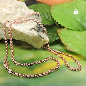 Damen Halskette 585 echt Gold Rotgold Rosé 45 cm 14 Karat Hochglanz Erbsen 2,5mm