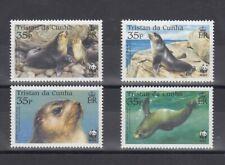 TIMBRE STAMP 4 TRISTAN DA CUNHA Y&T#757-60 PHOQUE SEAL NEUF**/MNH-MINT 2004 ~D02