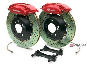 Brembo Rear GT Brake BBK 4piston Red 345x28 Drill BMW 525 528 530 540 M5 E39