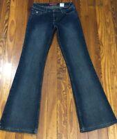 Retired Paris Blues Jeans Womens Size 0 Low Rise Vintage Finish Flare Jeggings