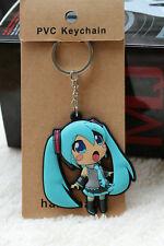 hatsune miku silicone keychain cute cartoon comic key chain new