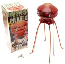 The Martian Invader Robot Windup 9 inch Tin Toy Schylling Wind Up Retro