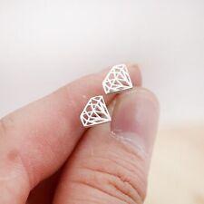 Diamond Shape Stud Earrings Minimal Geometric Stud New Punk Triangle Earring