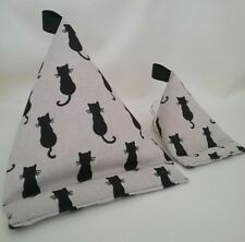 Black Cats Set of 2 Tablet stand kindle holder ipad desk office phone cushion