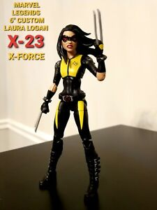 "MARVEL LEGENDS CUSTOM lot 6"" X-23  Laura Logan Kinney X-Force X-Men Wolverine"