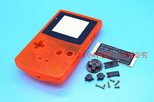 W Transparent Orange Housing Shell Case Cover Parts f Nintendo Gameboy Color GBC