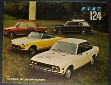 1972 Fiat 124 Catalog Brochure Spider Coupe Wagon Special Sedan Nice Original 72