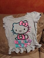 Girls size 4T Hello Kitty gray short-sleeve shirt