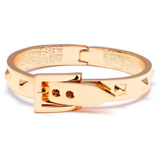 Belt Inspired Bangle Bracelet In Gold Tone FAST SHIP FROM USA