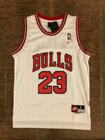 Michael Jordan #23 Throwback Chicago Bulls WHITE Mens Jersey #3 L 3409
