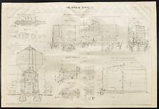 Plan ancien appareil de chauffage des locomotives. 1909. Roumanie