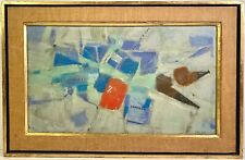 Listed Artist Ferit Iscan (1931-1986) Signed Oil On Canvas Abstract Painting
