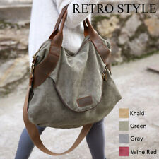 Large Pocket Lady Handbag Casual Women Shoulder Bags Cross Body Canvas Bag Tote