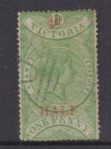 VICTORIA 1871 ½d STAMP STATUTE- Revenue -**wmk V/♚** Elsmore Cat $200++FU