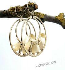 Gold Hoop Ethnic Gemstones Earrings Bohemian Jewellery