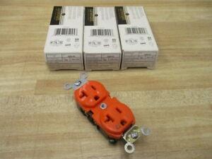 Leviton 5362-IG Duplex Receptacle 5362IG (Pack of 3)