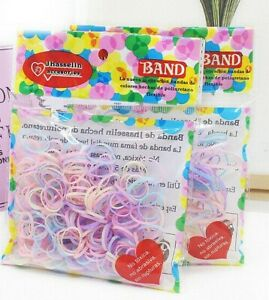 400 x Mini Children Baby Girls Rubber Elastic Hair Bands Bobbles Braids Plaits
