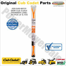 Cub Cadet Replacement Trimmer Line for String Trimmers (10 Pcs) / 490-040-M035