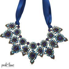 RETAIL $170 Park Lane Jewelry Necklace NIGHTINGALE blue w/ ribbon
