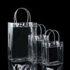 PVC Clear Tote Bag Transparent Purse Shoulder Handbags Portable Out Shopping