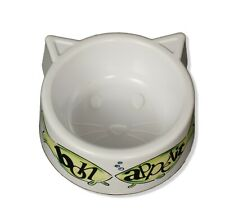 Boots and Barkley Bon Appetit Cat Bowl Dish White