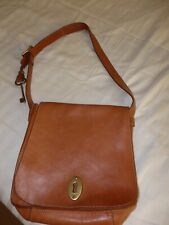 "FOSSIL ""Austin"" Tote Shoulder Bag Medium Tan Leather ~Key ~High Quality handbag"