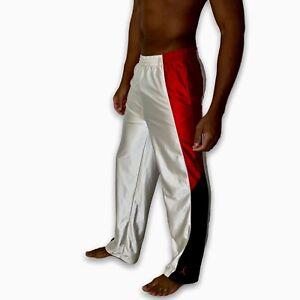 Super Rare Vintage Jordan Basketball Pants Dazzle White Red Black YL Men Small