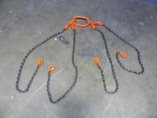 "Pewag 4 Leg QOG Alloy Steel Chain Sling 5"" x 7/32"" dia 7000lbs Load Capacity"